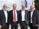 Beim Unternehmensbesuch bei den AVO-Werken in Belm sprachen die Geschäftsführer Bernhard Loch (links) und Guido Maßmann (2. von rechts) mit Landrat Dr. Michael Lübbersmann und WIGOS-Geschäftsführer Siegfried Averhage (rechts) unter anderem über den Neubau des Logistik-Werkes.Foto: WIGOS / Kimberly Lübbersmann