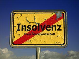Leichter Rückgang bei Unternehmensinsolvenzen