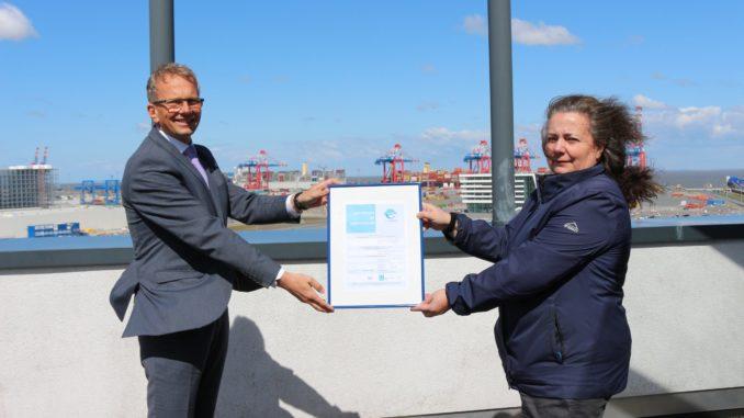Dritte Zertifizierung für JadeWeserPort-Umweltmanagement