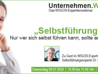 """WIGOS-Webinar: """"Selbstführung - Nur wer sich selbst führen kann, sollte andere führen!"""""""