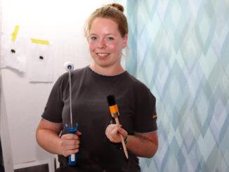 Die Zukunft ist bunt gemustert:Lehrling des Monats der Handwerkskammer für Ostfriesland ist Vanessa Löning aus Weener.