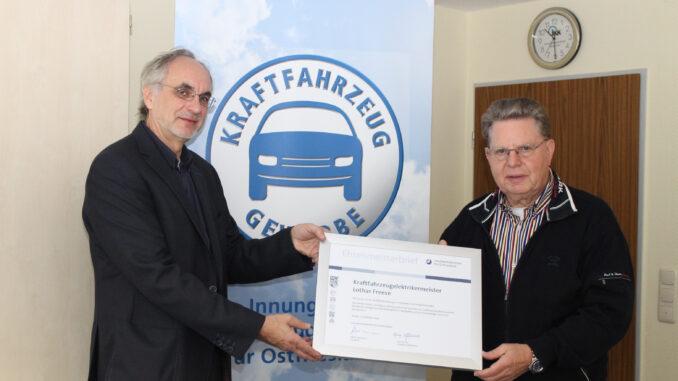 Lothar Freese Quelle: Handwerkskammer für Ostfriesland