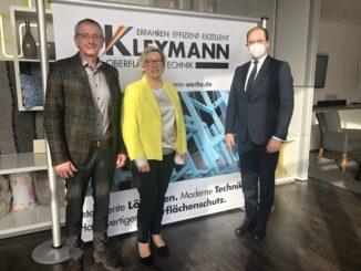 IHK-Spitze zu Besuch bei Kleymann Oberflächentechnik GmbH in Werlte
