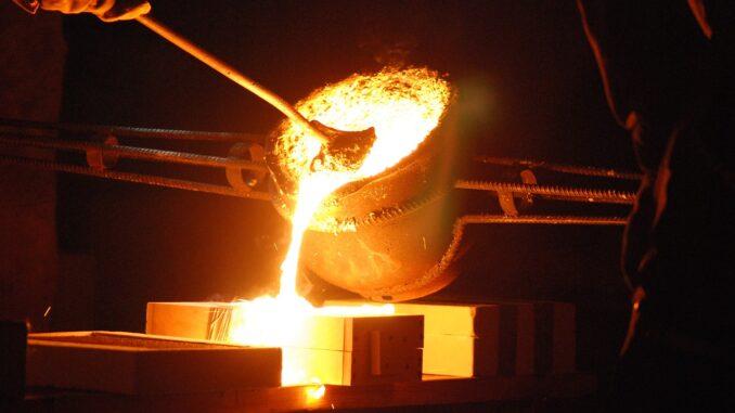 Gussstücken aus Eisen