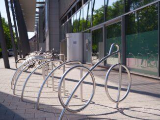 Neukundengewinnung durch Aufstellen eines Fahrradständers
