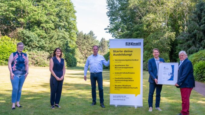 Erneut ausgezeichnet: Knoll GmbH & Co. KG aus Haren erhält IHK-Qualitätssiegel TOP AUSBILDUNG