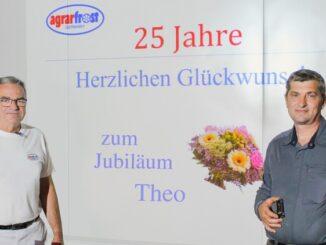 Agrarfrost: Theodor Schubert feiert 25-jähriges Dienstjubiläum