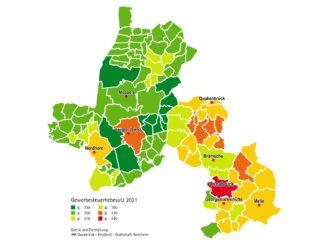 Gewerbesteuerhebesätze bleiben in der Region überwiegend konstant IHK veröffentlicht aktuelle Realsteuerhebesätze
