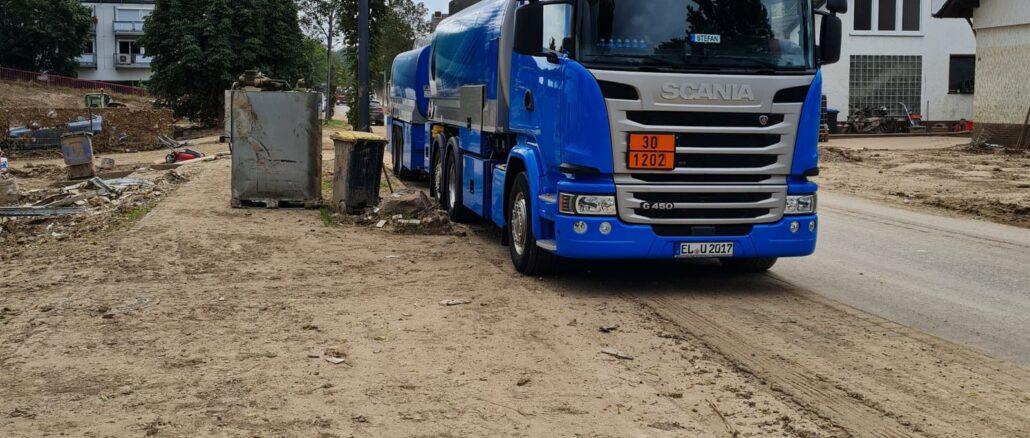 Wirtschaftsjunioren Emsland - Grafschaft Bentheim spenden erneut Diesel und Hilfsmaterialien für Opfer von Flutkatastrophe