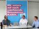 Austausch über Ausbildung: Podcast-Host Jan Bastian Buck (links) im Gespräch mit Carsten Budzinski und Lukas Bäcker. Foto: Fenja Gralla / Handwerkskammer Oldenburg
